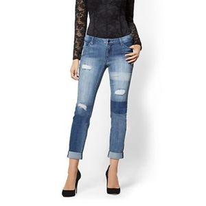 NY&Co Embellished Boyfriend Jeans